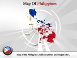 Map of Philippines Powerpoint Template