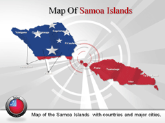 Samoa Islands PowerPoint map