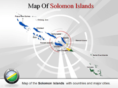 Solomon Islands powerpoint map