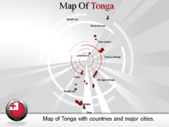 Tonga Islands powerpoint map