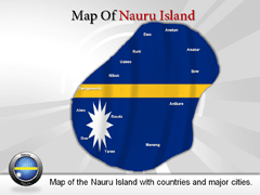 Nauru Islands PowerPoint map