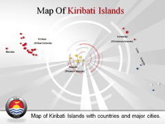 Kiribati Islands PowerPoint map