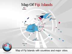 Fiji Island PowerPoint map