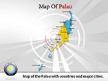Map of Palau Powerpoint Template