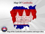 Cambodia Map Powerpoint (PPT) Template