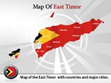 East Timor Map Powerpoint (PPT) Template