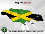 Map of Jamaica Powerpoint Template