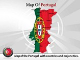 Portugal Map Powerpoint (PPT) Tempate
