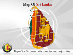 Sri Lanka PowerPoint map