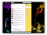 Twitter Backgrounds  - Smoke Twitter Template