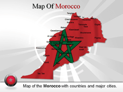 Morocco PowerPoint map