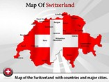 Switzerland Map Powerpoint Tempalte