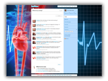 Heart Beat Line Twitter PowerPoint Templates