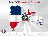 Dominican Republic Map (PPT) Powerpoint Template