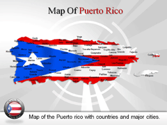 Puerto Rico PowerPoint map