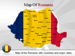Romania PowerPoint map