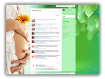 Twitter Theme   - Pregnancy Twitter Template