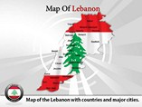 Lebanon Map Powerpoint  Template