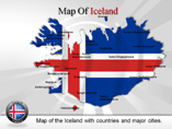 Iceland Map Powerpoint  Templates