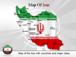 Map of Iran PowerPoint Templates