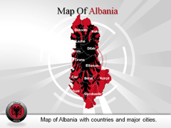 Albania PowerPoint map