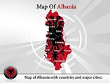 Map of Albania Powerpoint Template