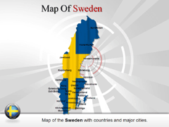 Sweden PowerPoint map