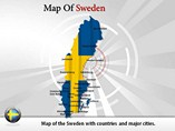 Map of Sweden Powerpoint Template