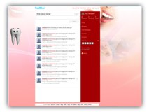 Dental Twitter (PPT) Powerpoint Template