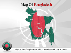 Bangladesh PowerPoint map
