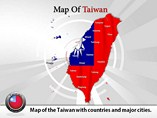 Taiwan Map Powerpoint (PPT) Template