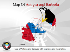 Antigua and Barbuda PowerPoint map