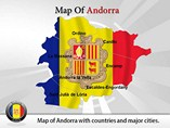 Map of Andorra Powerpoint Template
