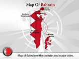 Map of Bahrain Powerpoint Template