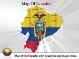 Ecuador Map Powerpoint(PPT) Template