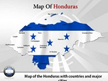 Honduras Map Powerpoint(PPT) Template