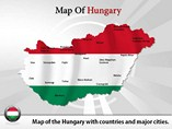 Map of Hungary Powerpoint Template
