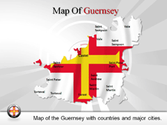Guernsey PowerPoint map