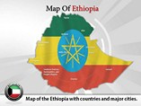 Map of Ethiopia Powerpoint Template