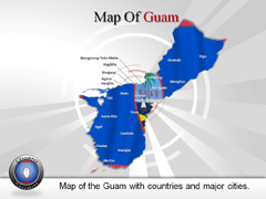 Guam PowerPoint map