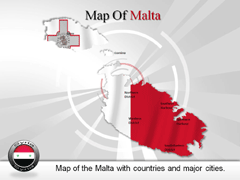 Malta PowerPoint map