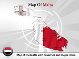 Malta Map (PPT) Powerpoint Template