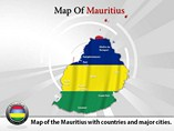 Map of Mauritius Powerpoint Template
