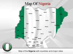 Short Nigeria PowerPoint map