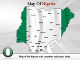 Map of Nigeria Powerpoint Template