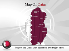 Qatar PowerPoint map