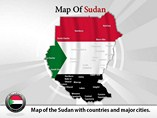 Sudan Map ( PPT) Powerpoint Template