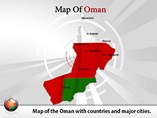 Map of Oman Powerpoint Template