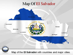 El Salvador PowerPoint map