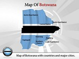 Map of Botswana Powerpoint Template